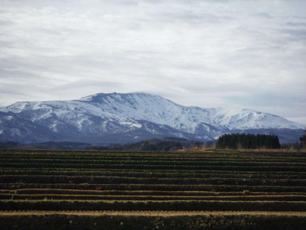 雪融けが進む月山