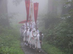 出羽三山神社の秋の峰入り
