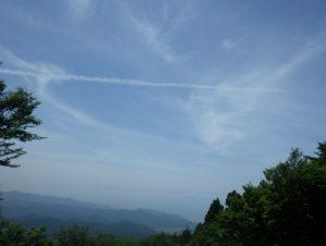 日本国山頂からの眺め