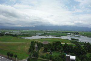 福島潟の全景