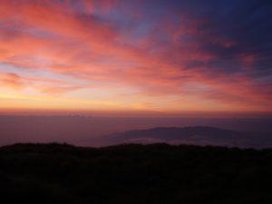 山頂からの夕焼け